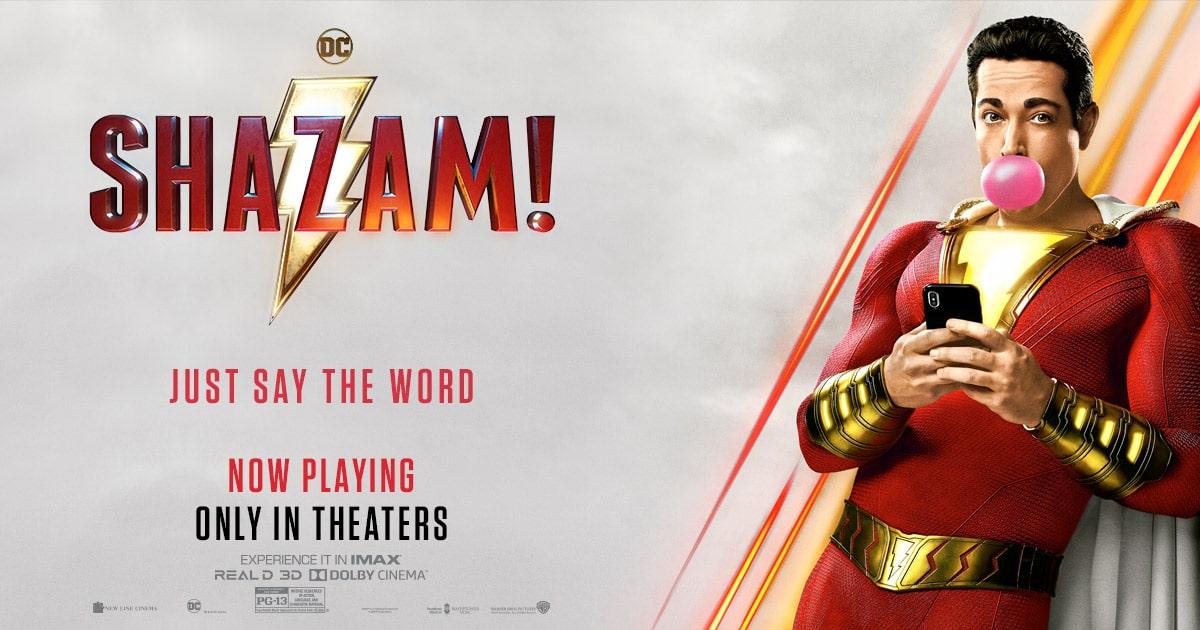 映画「シャザム」あらすじ、ネタバレ感想!見た目は大人、中身は子供の無邪気ヒーロー誕生
